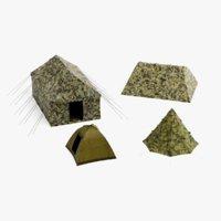 3D tents pbr model