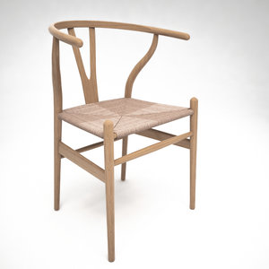 wishbone chair 3D