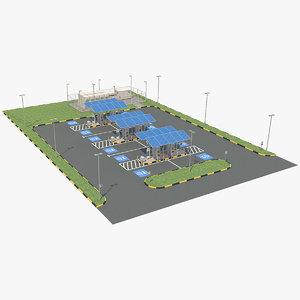 ev charging station 2 3D model