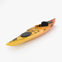 3D model kayak boat watercraft