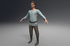 3D characters peasant