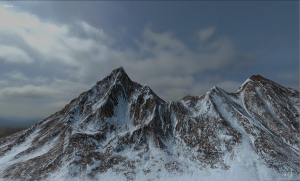 terrain mountain landscape 3D model