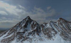 terrain mountain landscape 3D model