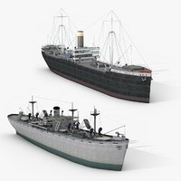 Lowpoly Old Ships