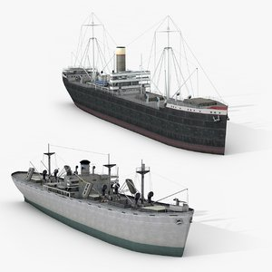 old ships 3D model