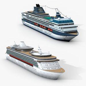 3D cruise ships