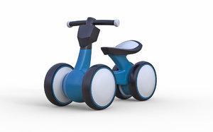 childrens mini wheel bicycle 3D model