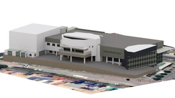 car showroom 3D model