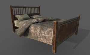 3D old dirty bed pillows