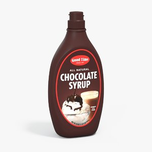 chocolate syrup bottle rigged 3d model