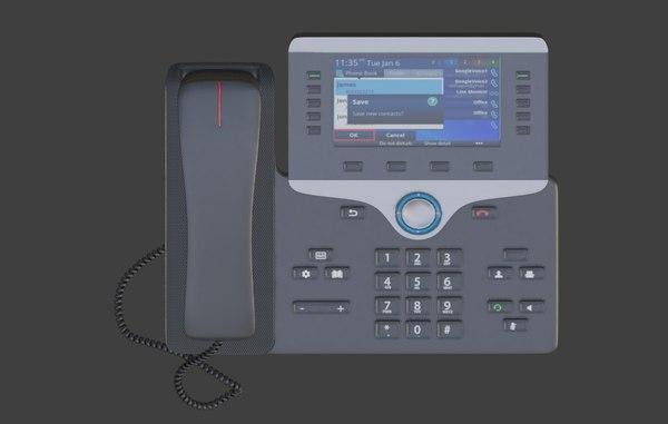 3D ip home landline model