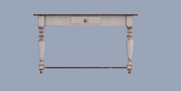3D model old painted table pbr