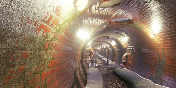 sewer tunnel 3D