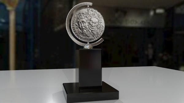 broadway award trophy 3D