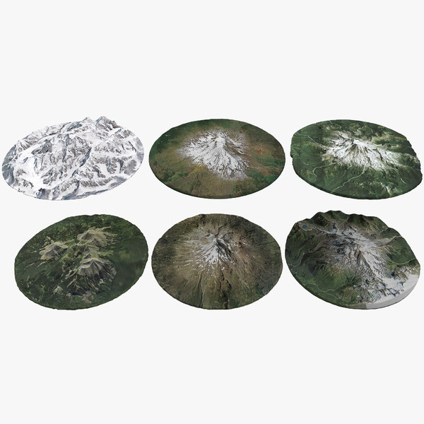 3D united states mountains pack