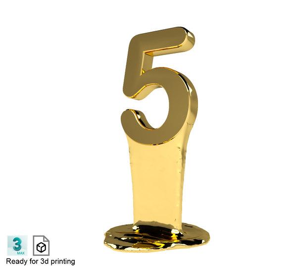 number 3D