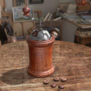 coffee scene 3D model