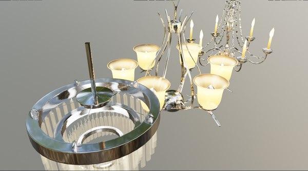 3D 3 different chandelier