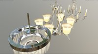 3D 3 different chandelier