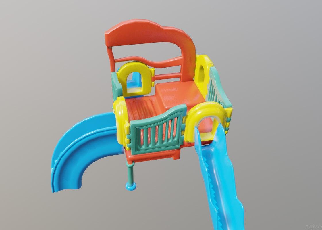 3D kid play ground park