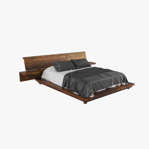 3D wood bed v1 model