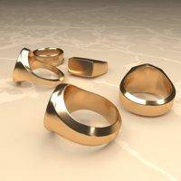 Gold rings set
