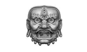 3D model mask mayan