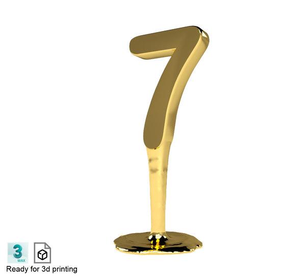 3D model number seven