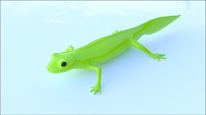 lizard triturus alpestris 3D model