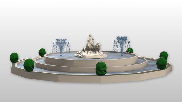 spain monument fuente cibeles 3D