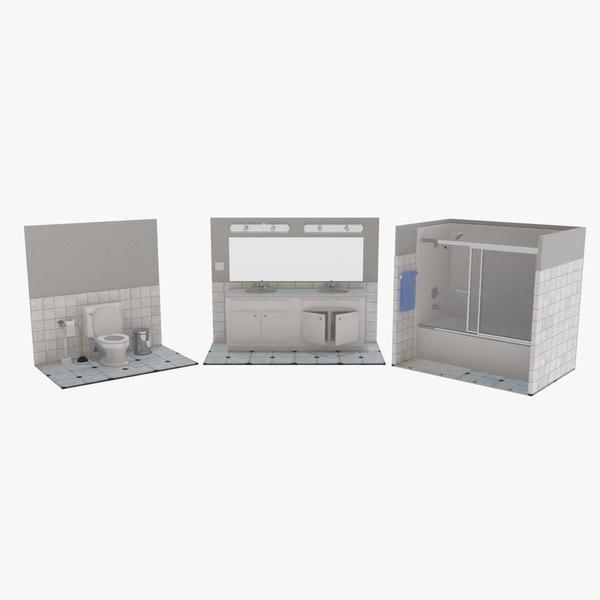 3D bath bathroom sinks