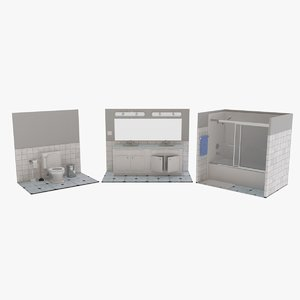 3D bath bathroom sinks