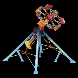 attraction tornado 3D model