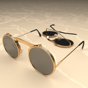 3D glasses fashion eyewear model