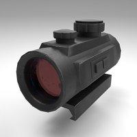 3D rifle gun red dot