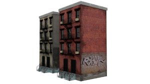 new york city apartment building 3D model