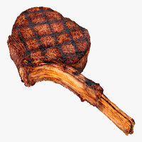 grilled tomahawk steak 3D model