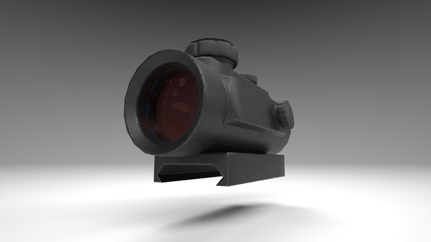 Red Dot - CQB Sight - Weapon Attachment - PBR - 4K Textures | Unity &  Unreal | Low Poly