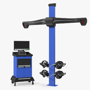 3D model wheel aligner car equipment