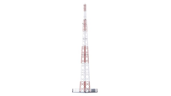 3D model tower buildings telecommunication