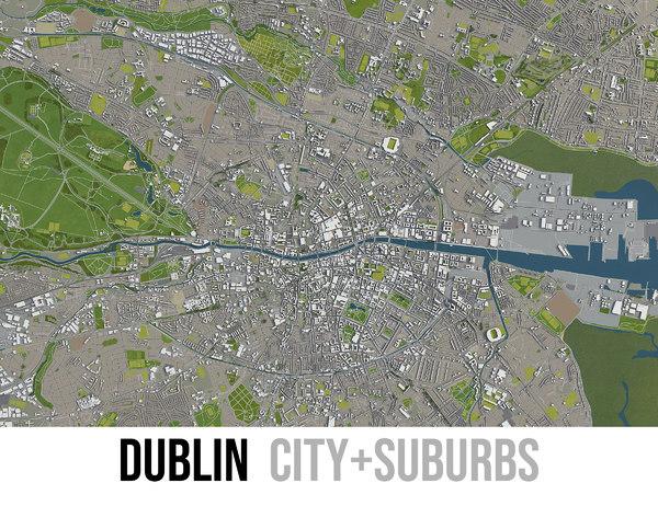 3D city dublin surrounding model