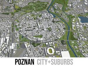 city poznan surrounding 3D