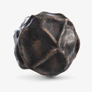 3D model black pepper