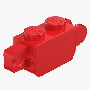 lego brick 1x2 click 3D model