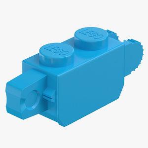 lego brick 1x2 click model