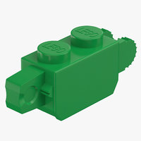 3D lego brick 1x2 click