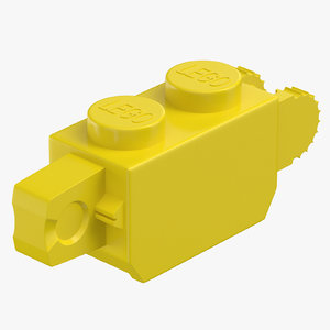 lego brick 1x2 click 3D model