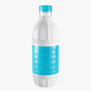 plastic milk bottle 1 3D