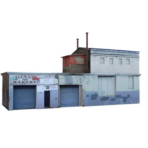 factory building warehouse 3D model