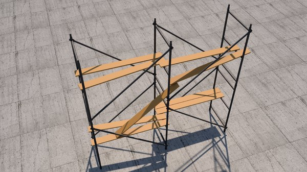 construction scaffolding 3D model